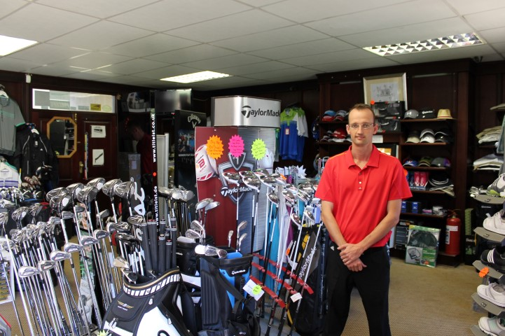 Donovan Main heads up our well-stocked pro shop.