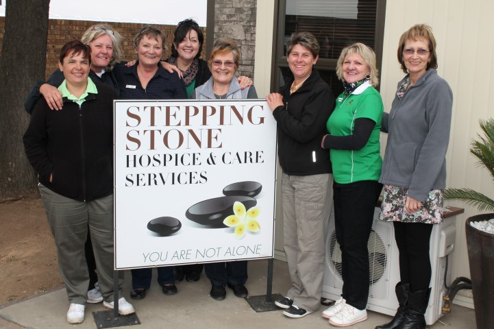 The Reading Ladies Golf Committee paid Stepping Stone Hospice a visit on Women's Day (Saturday August 9) to meet the incredible women behind the scenes at the Hospice. Reading Ladies have also committed to donate a portion of funds raised at their Annual Charity Golf Day on September 24 to Stepping Stone Hospice. f.l.t.r. Mariaan Vermeulen (Reading), Marietjie Tame, Tersia Burger, Judy Joubert, Marie Coetzee, Shelley Daymond (ladies captain), Elsebie Louw (Reading) and Rina Davis.
