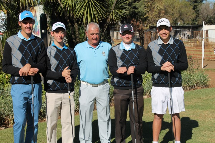 Reading Country Club has reason to be proud of their junior golf team. These youngsters recently won the interclub championships in the Gauteng region and will now compete in the Louis Oosthuizen Interclub Nationals to take place on 28 and 29 September 2015 in Langebaan. Wishing them the very best of luck. F.l.t.r: Kyle Klopper, Keagan van Jaarsveld, Deon Prinsloo (team manager), David Ross and Tiaan Swart.